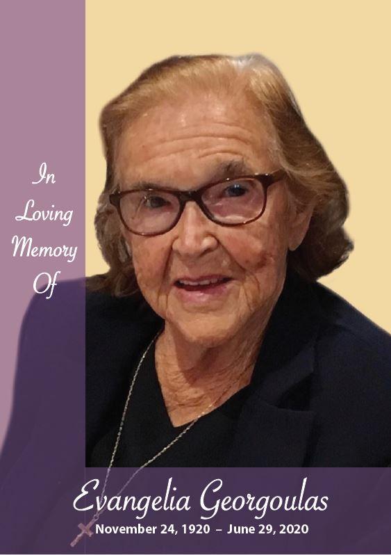 In loving memory of Evangelia Georgoulas – 99 Years photo