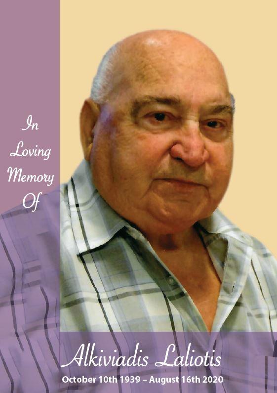 In loving memory of Alkiviadis Laliotis – 80 Years photo