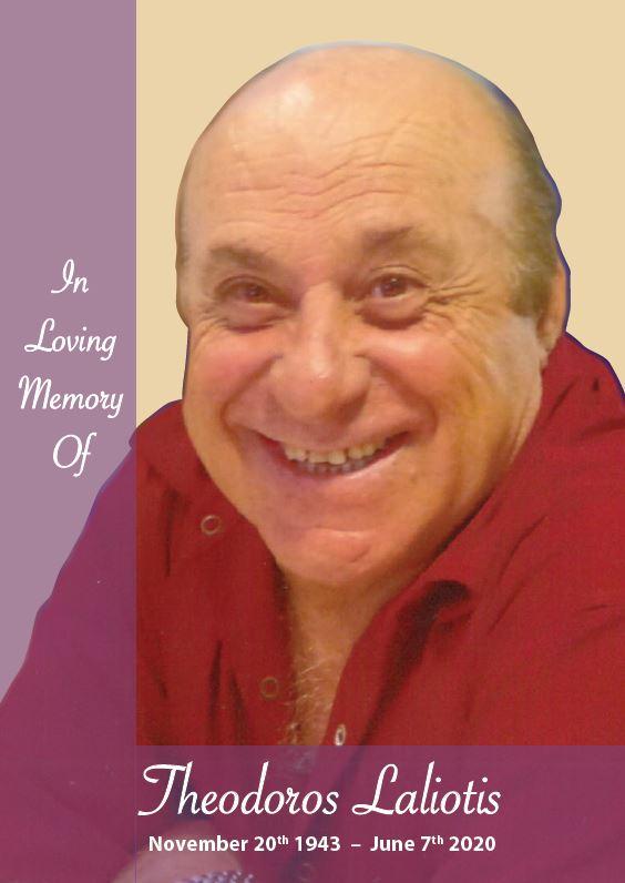 In loving memory of Theodoros Laliotis – 76 Years photo
