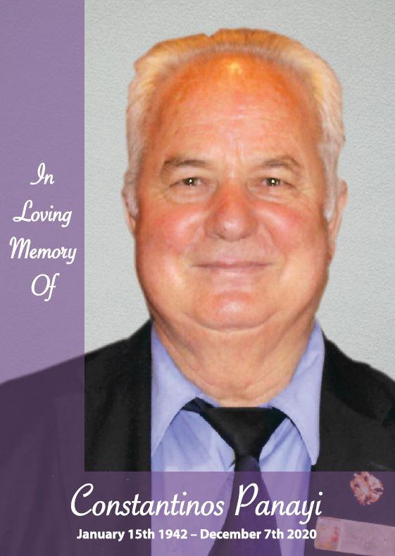 In loving memory of Constantinos Panayi – 78 years photo