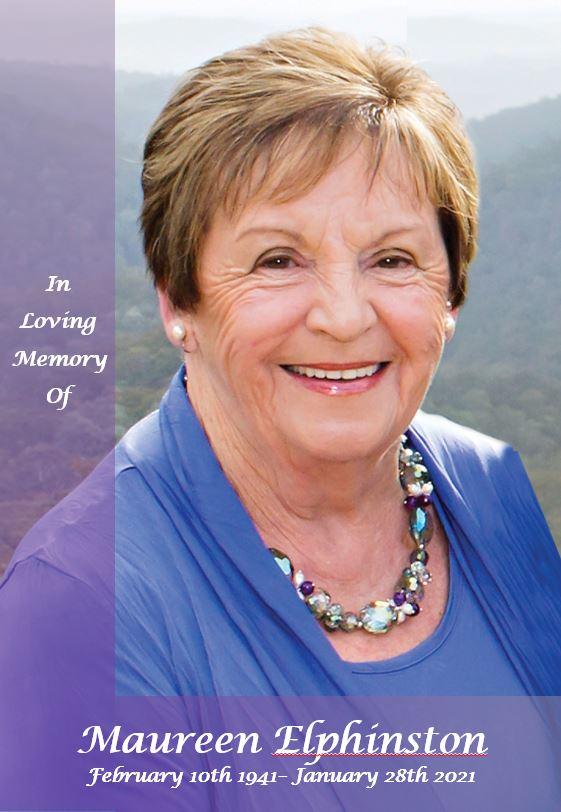In loving memory of Maureen Elphinston – 79 years photo