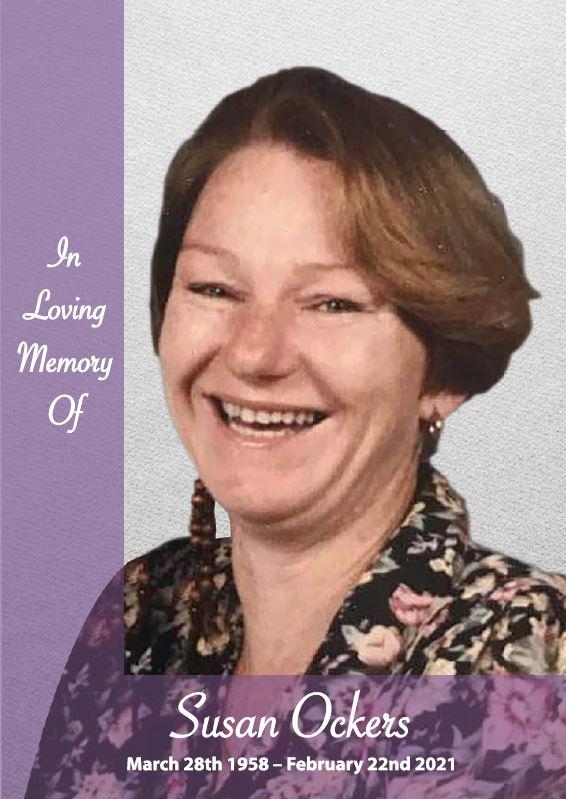 In loving memory of Susan Ockers – 62 years photo