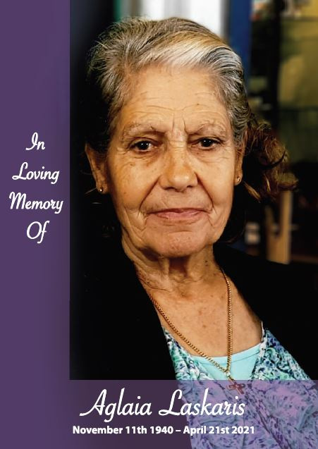 In loving memory of Aglaia Laskaris – 80 years photo