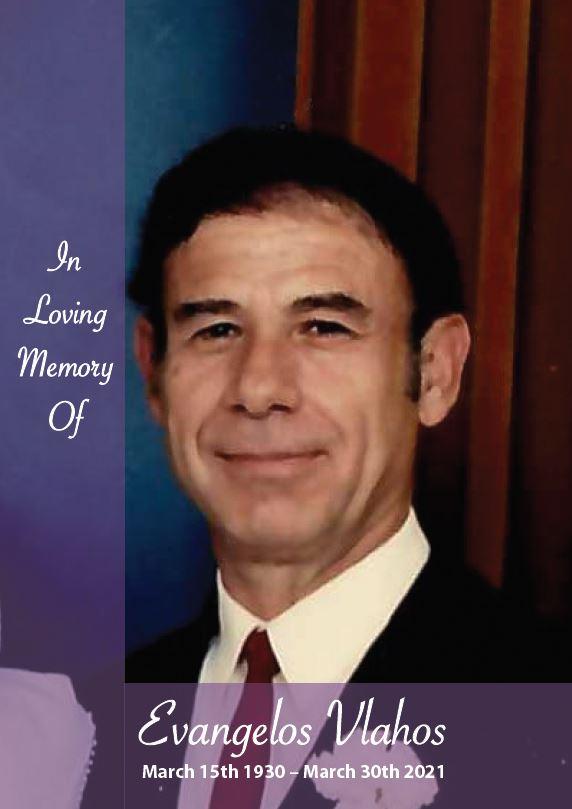 In loving memory of Evangelos Vlahos – 91 years photo