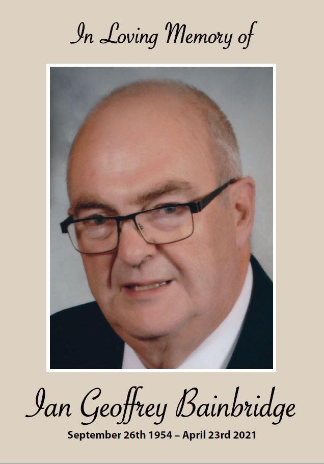 In loving memory of Ian Bainbridge – 66 years photo