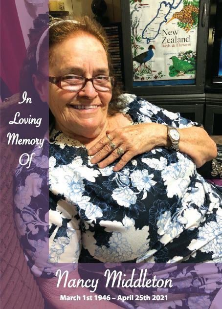 In loving memory of Nancy Middleton – 75 years photo