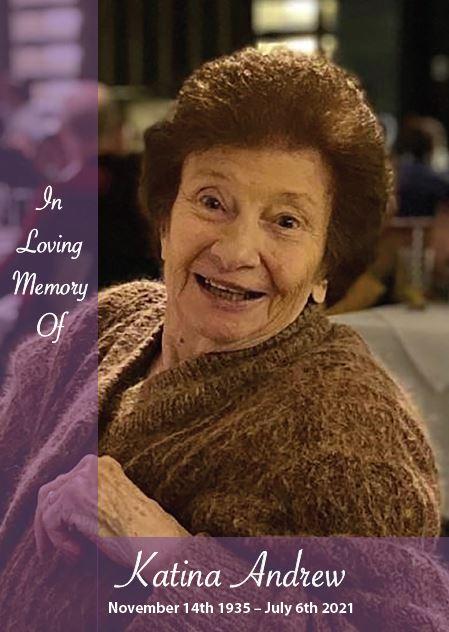 In loving memory of Katina Andrew – 85 years photo