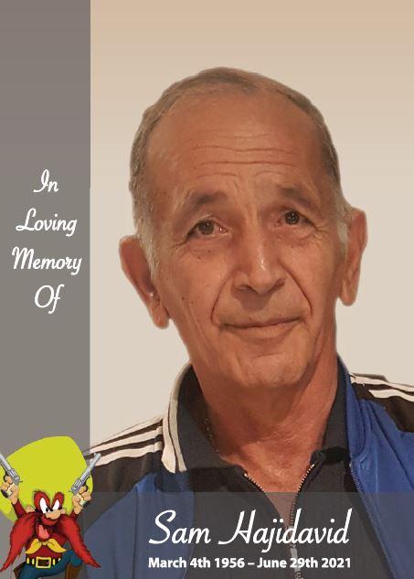 In loving memory of Sam Hajidavid – 65 years photo