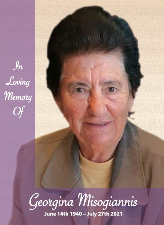In loving memory of Georgina Misogiannis – 81 years photo
