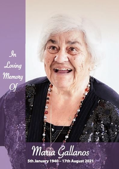 In loving memory of Maria Gallanos – 81 years photo